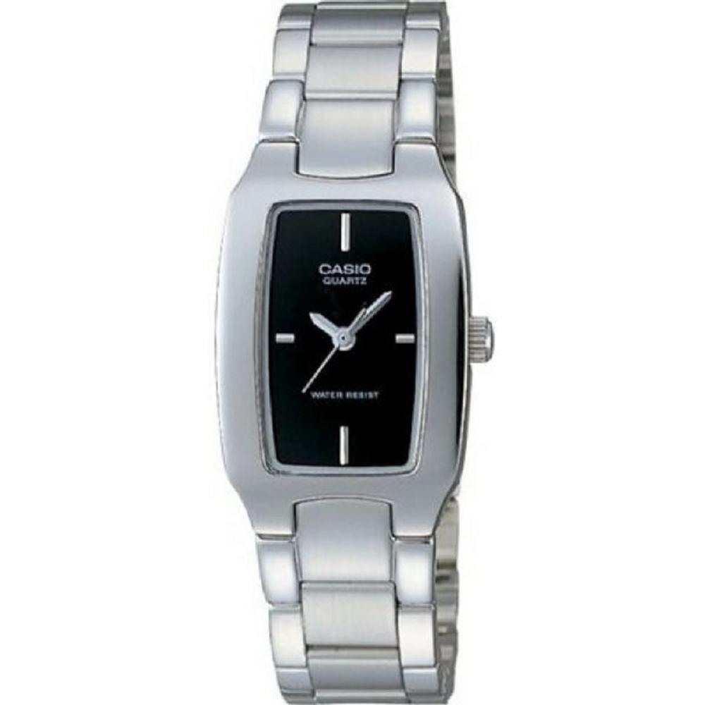 CASIO 清新時尚酒桶型指針女錶(LTP-1165A-1C)黑色丁字面/22mm