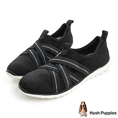 Hush Puppies TRICIA 軟Q健走鞋-黑色