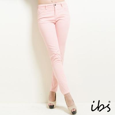 IBS 簡約隨性風窄管休閒褲-粉紅-女