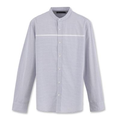 Hang Ten -男裝-都會基本小立領襯衫 - 深藍