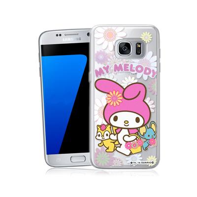 三麗鷗正版 美樂蒂 三星 Galaxy S7 5.1吋 透明軟式保護殼(郊遊)