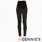 Gennies-輕車線外磨毛素色長褲(T4E15)墨綠/深紅/深灰三色可選