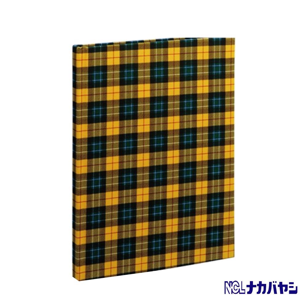 日本 Nakabayashi 自黏相本 麻布系列 格紋相本(黃)
