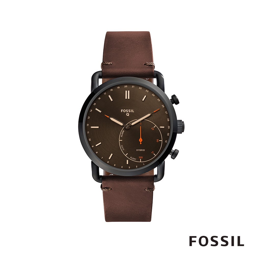 【FOSSIL】 Q COMMUTER 智能錶-深棕色 約44mm FTW1149