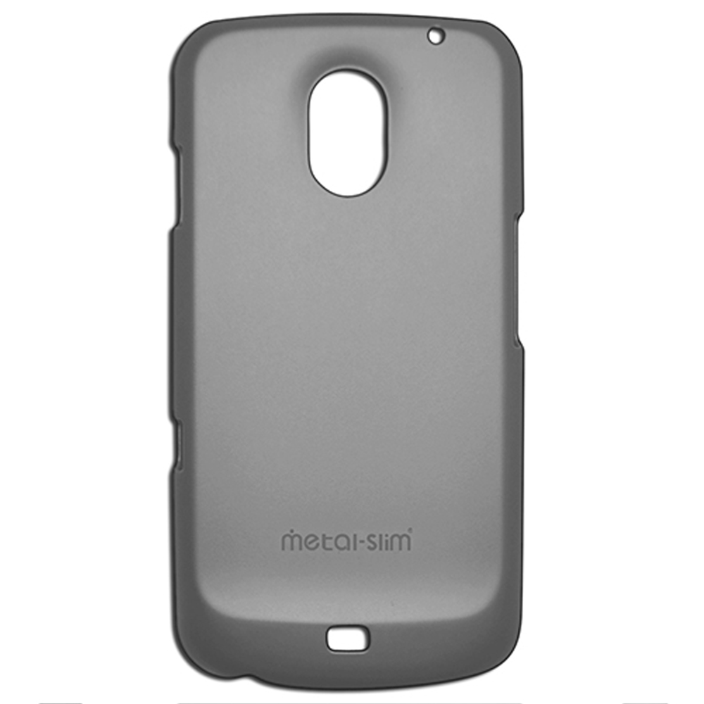 Metal-Slim  Samsung Galaxy Nexus 皮革漆保護殼- 鐵灰