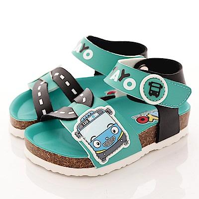 TAYO小巴士童鞋 新創軟木涼鞋款 EI3806 綠 (中小童段)