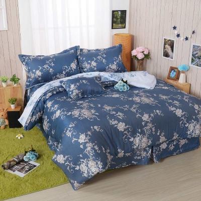 BARNITE浪漫紛飛 舒爽天絲五件式中式寢具組-雙人