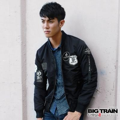 BIG-TRAIN-薄款潮流飛行外套-男-黑色