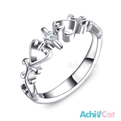 AchiCat 珠寶白鋼戒指尾戒 甜蜜心情