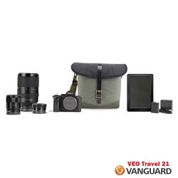 VANGUARD 精嘉 唯影者旅行 21 VEO Travel 21 側背相機包-黑色