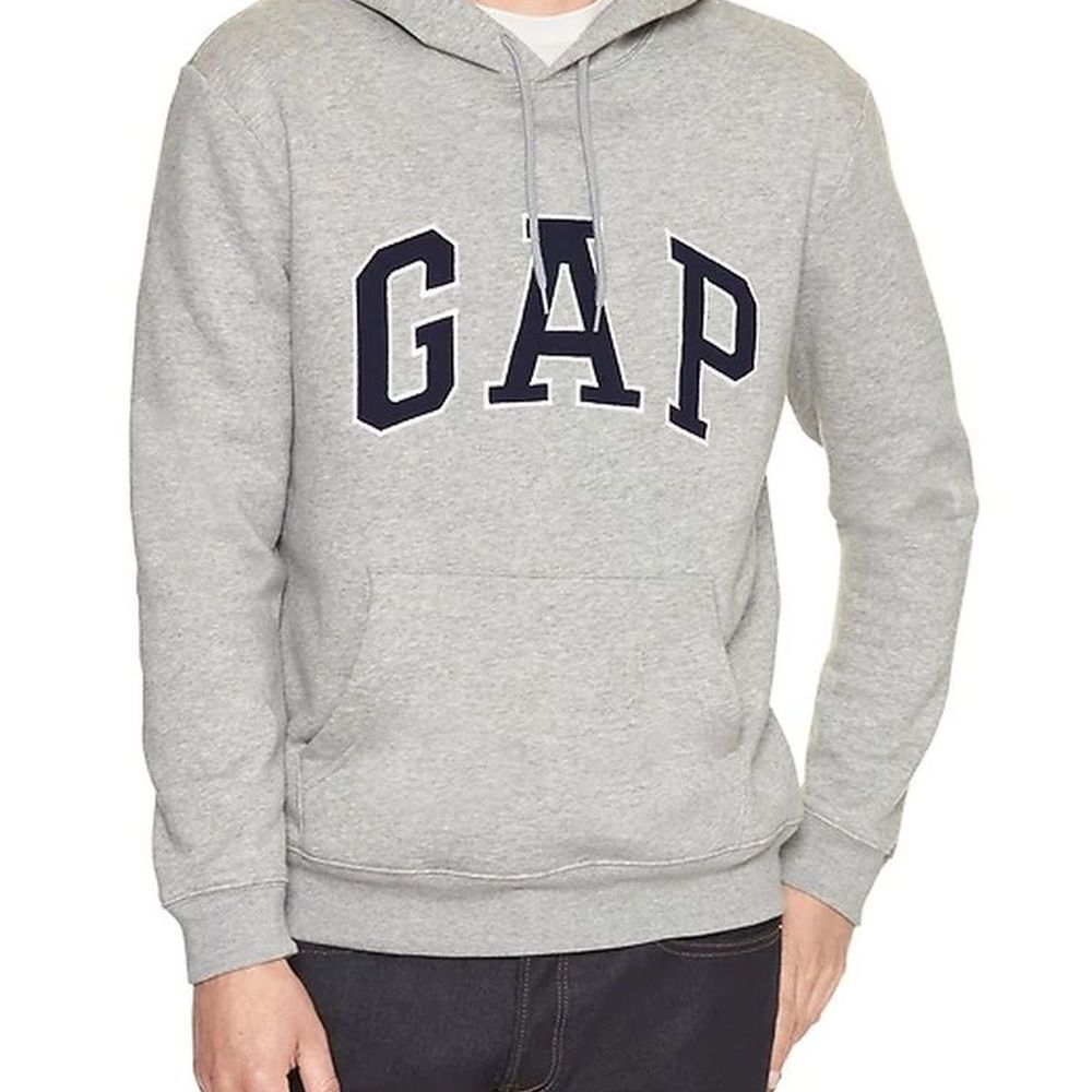 GAP 男生 長袖 帽T 灰色 0572