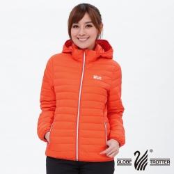 【遊遍天下】女款JIS90%羽絨防風防潑水輕暖羽絨外套G0312桔色