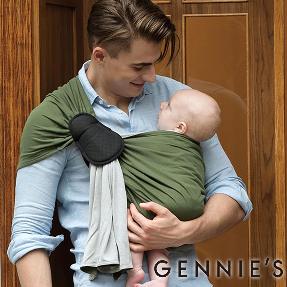 【Gennies奇妮】3S BiColor新機能美學揹巾(GX51)-綠