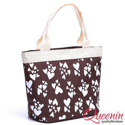 DF Queenin - 日系甜美花紋系列輕便手提肩背包-共3色