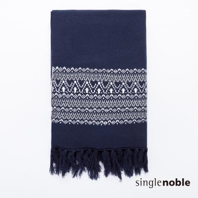 獨身貴族 低調隨心魔法圖騰織紋垂墜流蘇設計圍巾(1色)