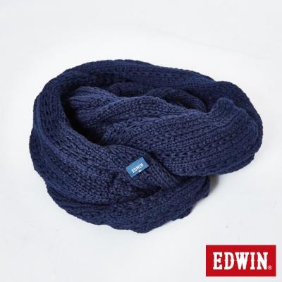 EDWIN-江戶勝素色圍脖-中性-丈青