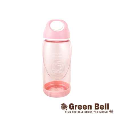 【GREEN BELL綠貝】400ml輕巧防滑隨手杯附止滑墊(粉)