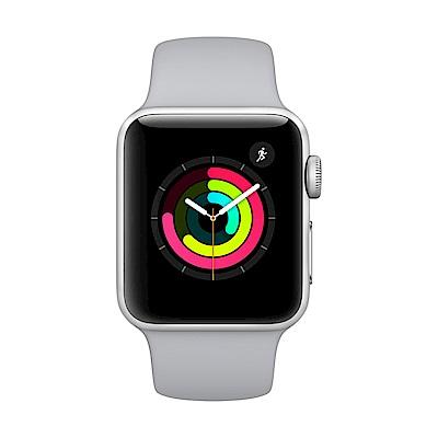 Apple Watch Series 3 GPS,38mm銀色鋁金屬錶殼/薄霧灰色運動錶帶