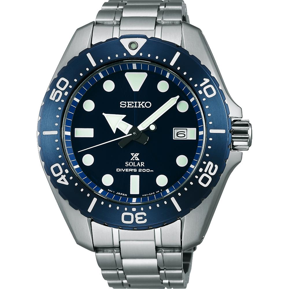 SEIKO 精工 Prospex SCUBA 太陽能鈦潛水錶(SBDJ011J)-藍