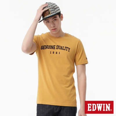 EDWIN-T恤-後染復古LOGOT恤-男-土黃