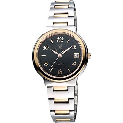 Olympianus 奧柏 時尚雅典女錶-黑x雙色版/31mm