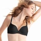 黛安芬-身體底妝-裸色系列 超彈力T-Shirt胸罩 B-C罩杯內衣 (黑色)