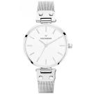 MOCKBERG ELISE 優雅米蘭帶時尚手錶-白X銀/34mm