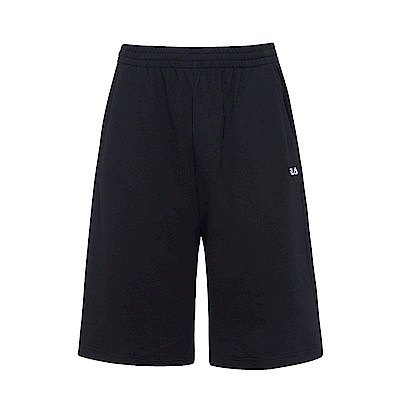 FILA 男純棉運動短褲-黑 1SHS-1520-BK