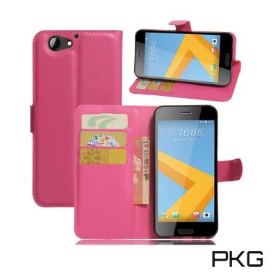 PKG HTC A9S 側翻式皮套經典皮革系列-玫粉