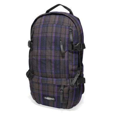 EASTPAK 電腦後背包 Floid系列 Purple Plaid