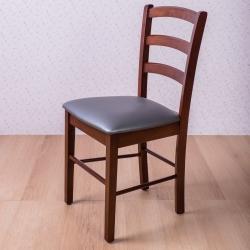 簡約風 斯巴瑞排骨椅-黑咖啡-44x43x85cm