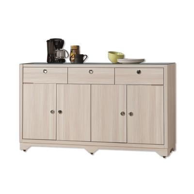 Bernice-威利斯5尺碗盤收納餐櫃(強化玻璃檯面)-150x41x90cm