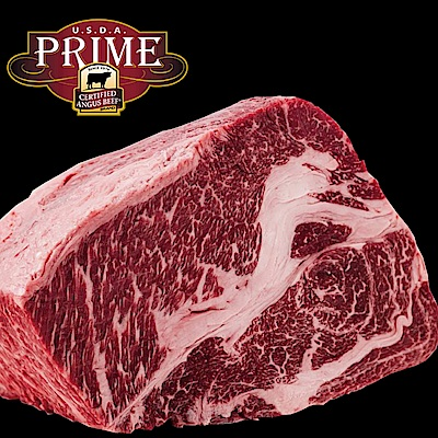 豪鮮牛肉 頂級熟成安格斯Prime霜降沙朗牛排2片(400g±10%,15盎斯/片)