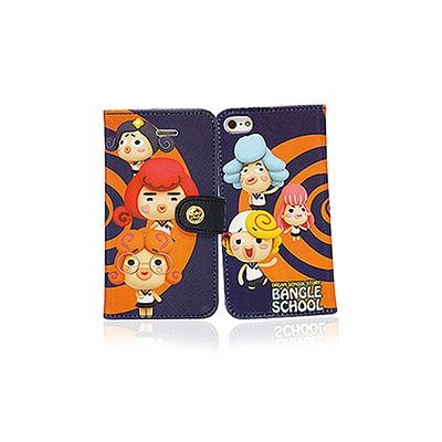 【摩達客】韓國Fabulous進口 麻吉好友圈橘藍iPhone5手機皮套