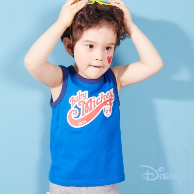 Disney 米奇美式運動背心 寶藍色