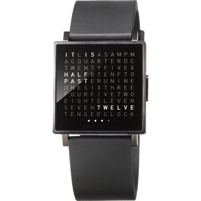QLOCKTWO-Watch-潮流時尚文字手錶-黑