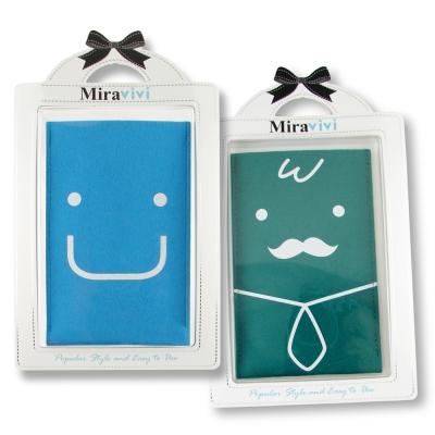 可愛表情超細纖維布手機袋