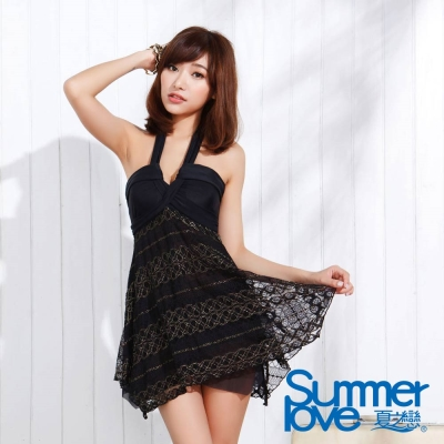 夏之戀SUMMER LOVE 魅力優雅連身裙兩件式泳衣