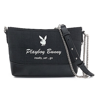 PLAYBOY- 2WAY鍊帶包 Bling Night系列-個性黑