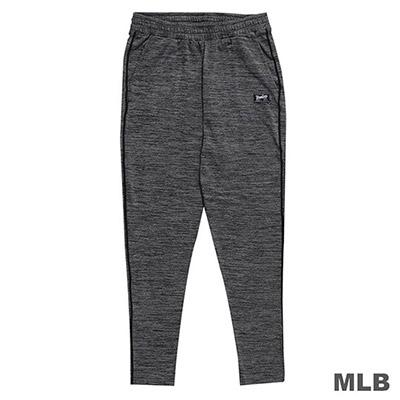 MLB-紐約洋基隊合身縮口熱身薄長褲-深麻灰 (男)