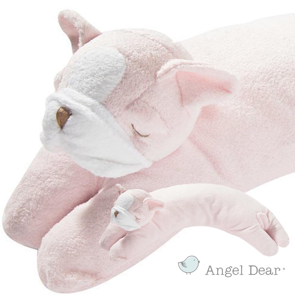 美國 Angel Dear 曲線動物大枕頭 (粉紅鬥牛犬)