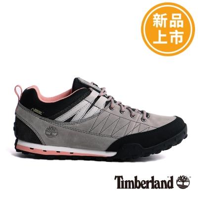 Timberland-女款淺灰色戶外防水低筒休閒鞋