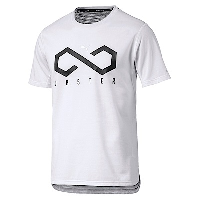 PUMA-男性慢跑系列OceanRun圖騰短袖T恤-白色-歐規