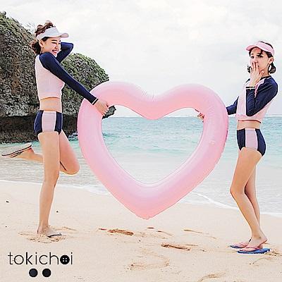 東京著衣 韓國同步運動風撞色泳褲-S.M(共二色)