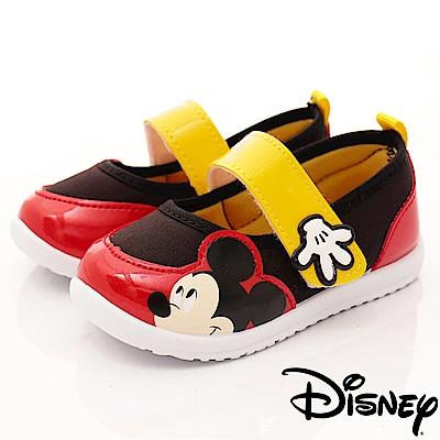 迪士尼童鞋 米奇休閒娃娃鞋款 FO64401黑紅 (中小童段)