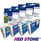 RED STONE for EPSON 73N墨水匣(四色一組)優惠組
