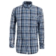 【hilltop山頂鳥】男款吸濕快乾長袖襯衫S05M52-深藍/藍格子 product thumbnail 1