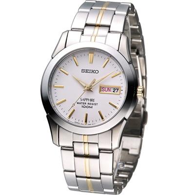 精工 SEIKO 經典大三針紳士腕錶(7N43-0AR0KS)銀x金/37mm