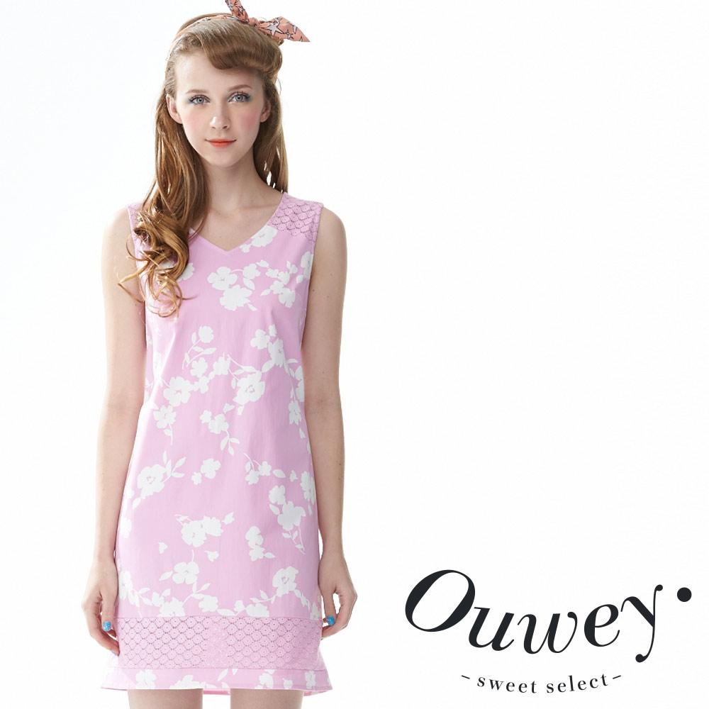 OUWEY歐薇 粉彩印花背心洋裝(共2色)