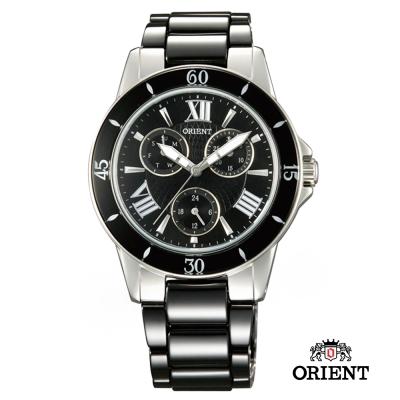 ORIENT 東方錶 CASUAL系列 陶瓷女錶-黑色/38mm
